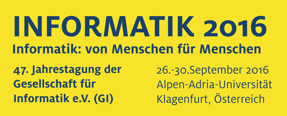 Participation in INFORMATIK 2016 in Klagenfurt